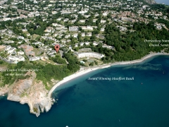 Helicoper view the hotel balmoral torquay sea meadfoot beach