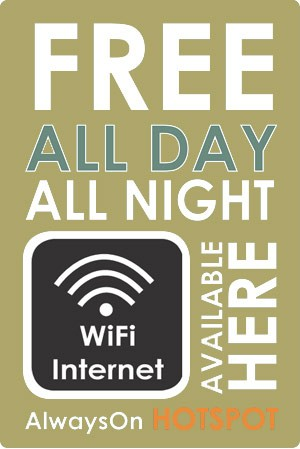 We offer hotel wifi throughout the building free of charge.