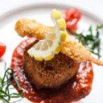 Crab & Prawn Fishcake with Tempura Battered Served at Balmoral Hotel Torquay Restaurant (2)