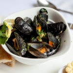 Mussels in Bowl at the Balmoral Hotel Torquay at our Restaurant in Torquay