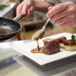 Chef Serving in Balmoral Hotel Restaurant in Torquay