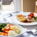 Brixham Plaice Fillets with Vegetable Dish